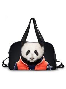 Vivid Panda Sir Pattern 3D Painted Travel Bag