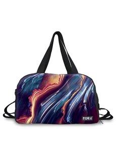 Fashion Asymmetric Stripe Pattern 3D Painted Travel Bag