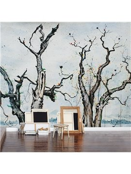 Black Several Sere Trees Pattern Living Room Decoration Waterproof 3D Wall Murals