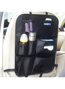 Cost-Effective Multiple Pockets Microfiber Leather Material Car Backseat Organizer