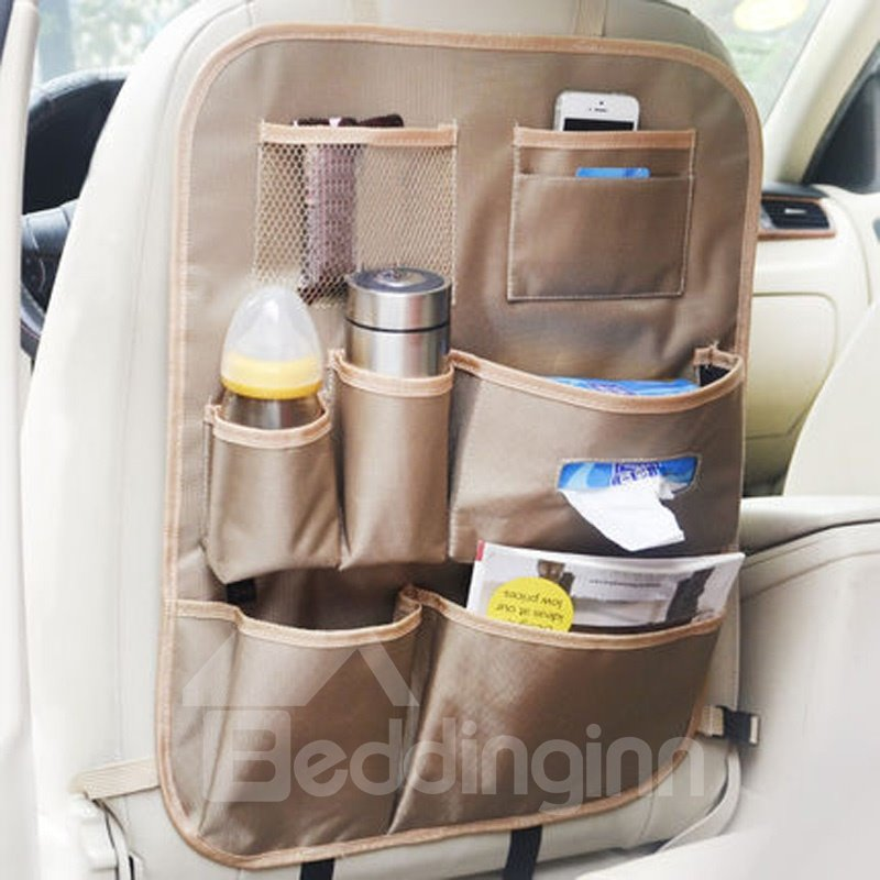 Cost-Effective Multiple Pockets Oxford Cloth Material Hanging Car Backseat Organizer