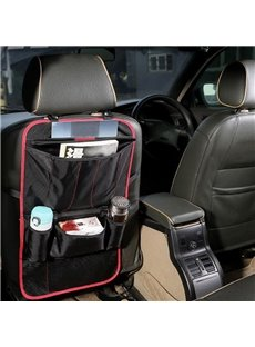 Waterproof Easy Install Anti-Kicking Hanging Durable Mixing Material Car Chair-Back Organizer