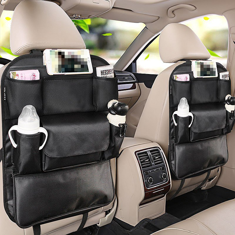 High-Grade Microfiber Leather And Oxford Cloth Mixing Material Car Backseat Organizer