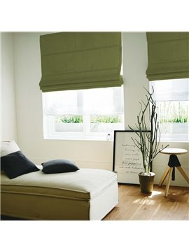 Concise Green Blackout Flat-Shaped Roman Shades
