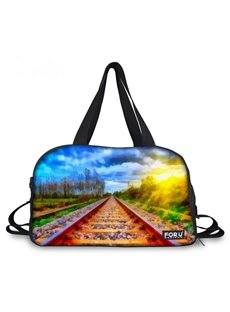 Pretty Rail Landscape Pattern 3D Painted Travel Bag