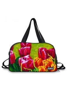 Beautiful Tulip Pattern 3D Painted Travel Bag