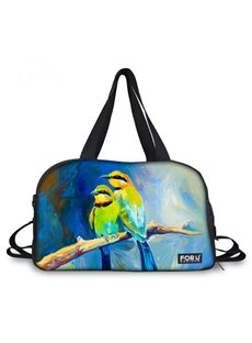 Wonderful Parrot Couple Pattern 3D Painted Travel Bag