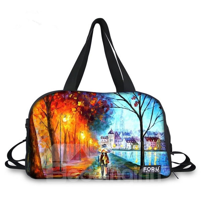 Different Season Landscape Pattern 3D Painted Travel Bag