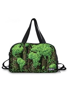 Unique Plant World Map Pattern 3D Painted Travel Bag