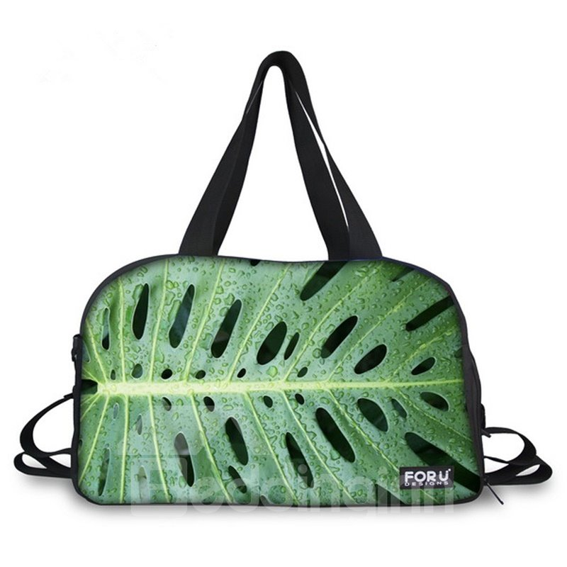 Pretty Leaf Pattern 3D Painted Travel Bag