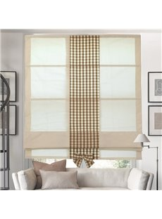 Designer Sweet Beige Flat-Shaped Custom Roman Shades