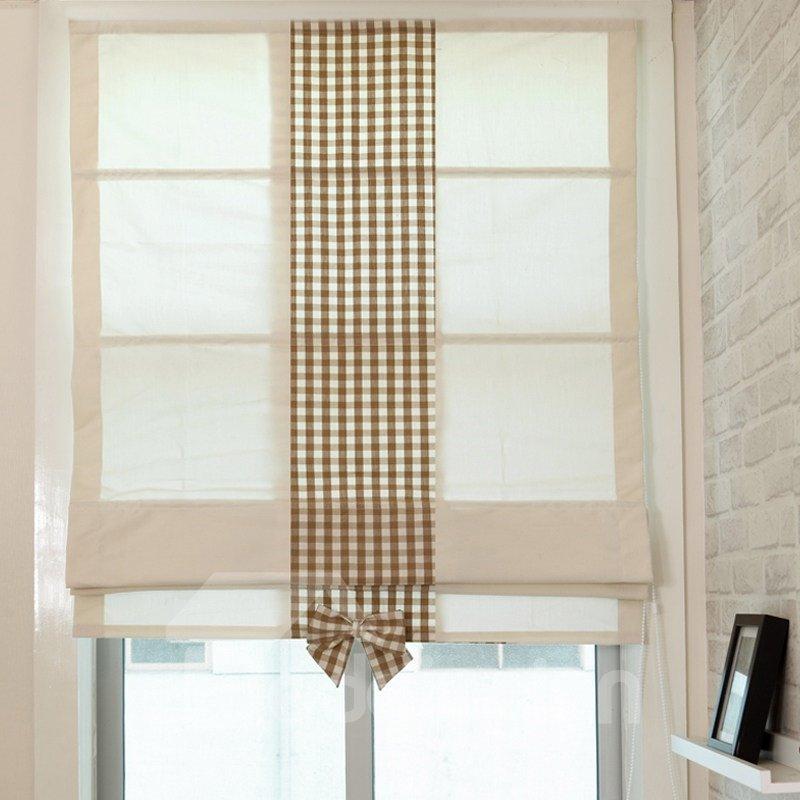 Designer Sweet Beige Flat-Shaped Custom Roman Shades