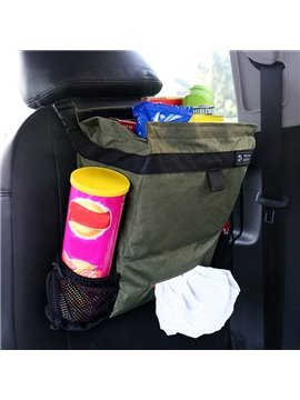Fresh Green Fashion Medium High Capacity Hanging Car Backseat Organizer