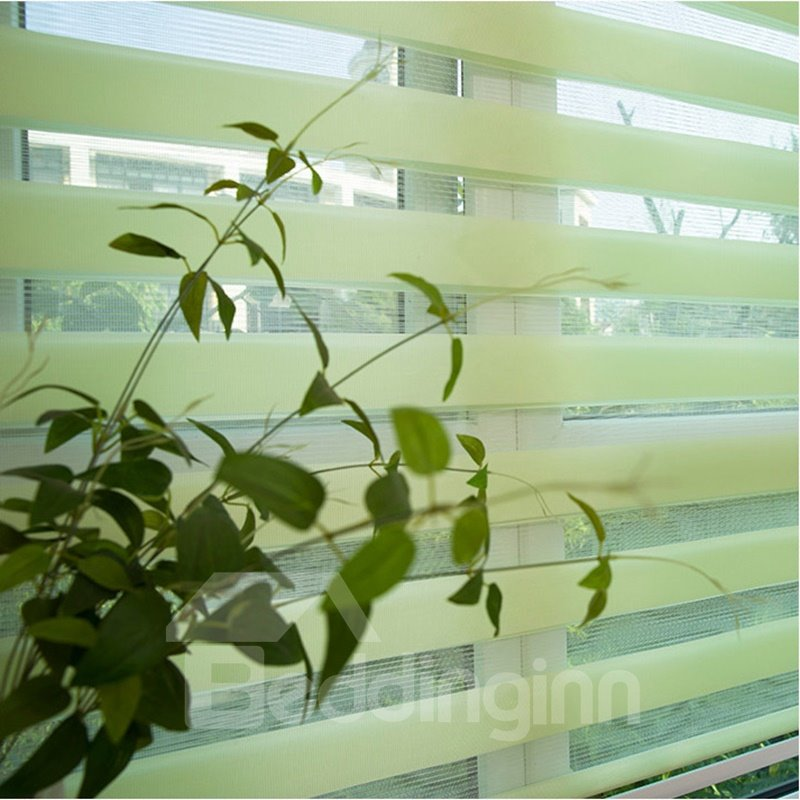 Country Style Green Roller Blinds Custom Sheer Shades