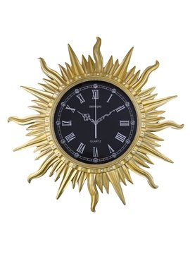 Vintage European Style Sun Shape Design Mute Battery Wall Clock