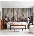 Classic Plank Shape City Scenery Pattern Waterproof 3D Wall Murals