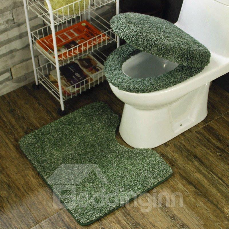 dark green toilet seat. 55 Dark Green 3 Pieces Plush Toilet Seat Cover Sets  beddinginn com