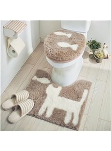 Cat and Fish Pattern Cotton Toilet Seat Cover Sets