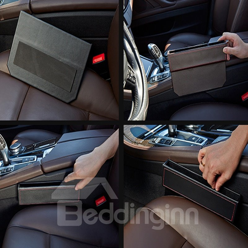 High-Grade Durable PU Leatherette Material Single Car Side Organizer