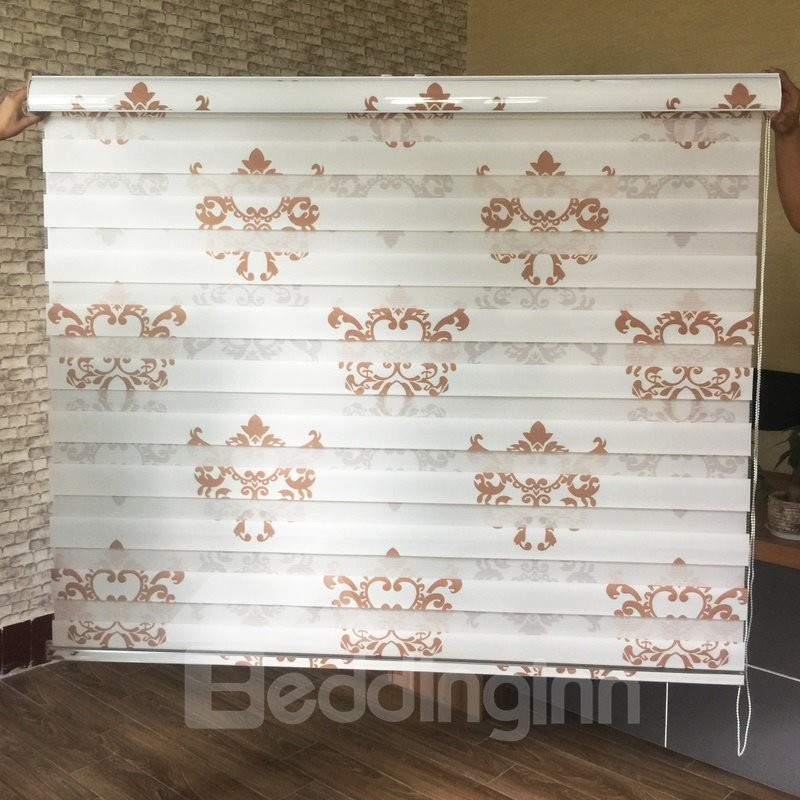 European Style Damask Printed Custom Sheer Shades