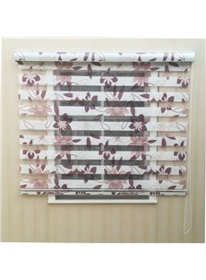 Elegant Floral Printed Custom Sheer Shades