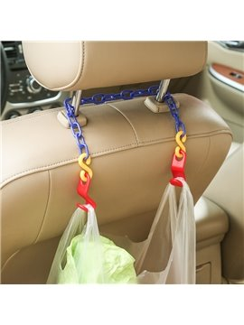 Simple And Practical Plastic Material Double Car Chair-Back Hook