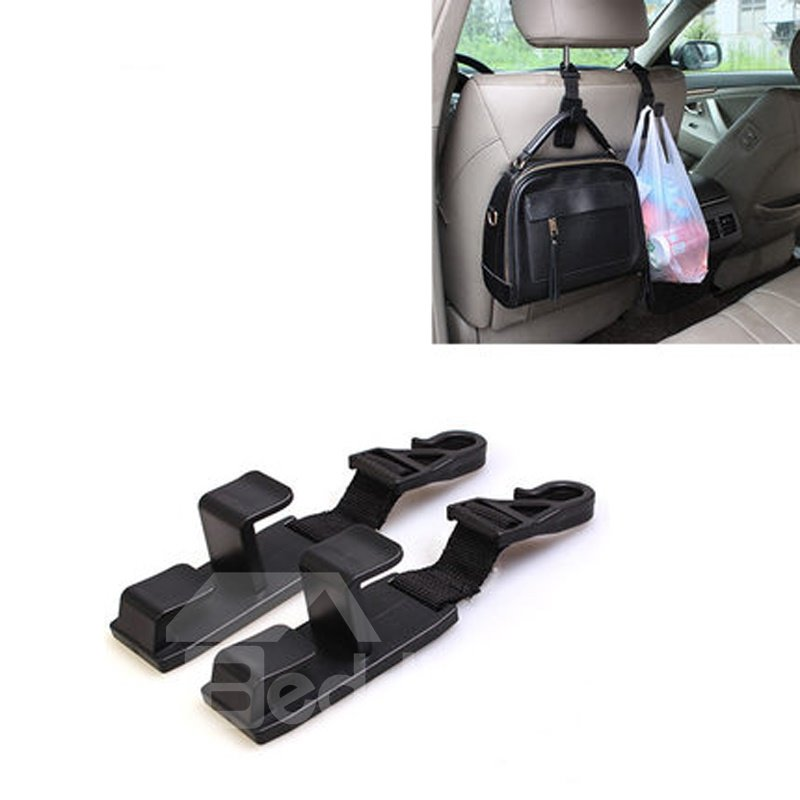 Simple And Practical 1-Pair Car Chair-Back Hook