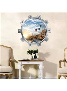 Amusing Fire Balloon Pattern Living Room or Bathroom Decoration 3D Wall Stickers