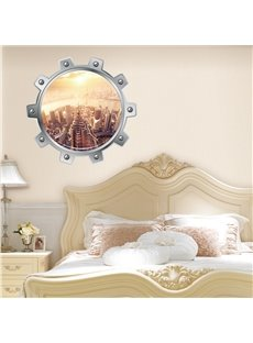 Amazing Modern Style City Scenery Pattern Decorative 3D Wall Stickers