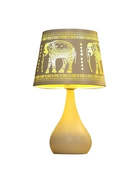 Warm White Simple Style Elephant Pattern Design Decorative Table Lamp