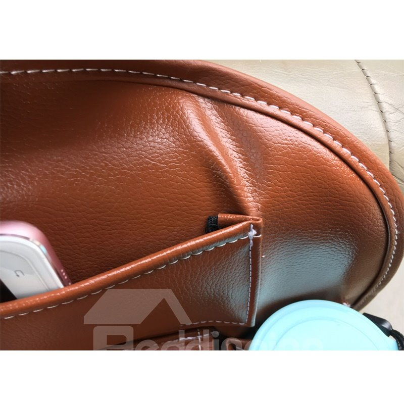 High-Grade Durable Leatherette Material Multiple Pockets Car Chair-Back Organizer