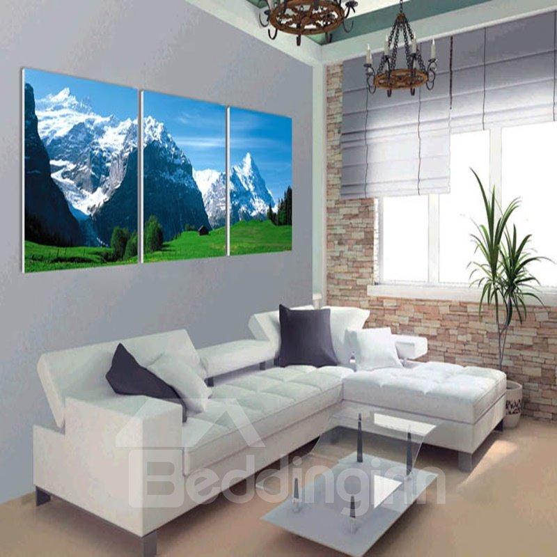 Special Design Jokul Scenery Pattern 3 Panels Ready to Hang Framed Wall Art Prints