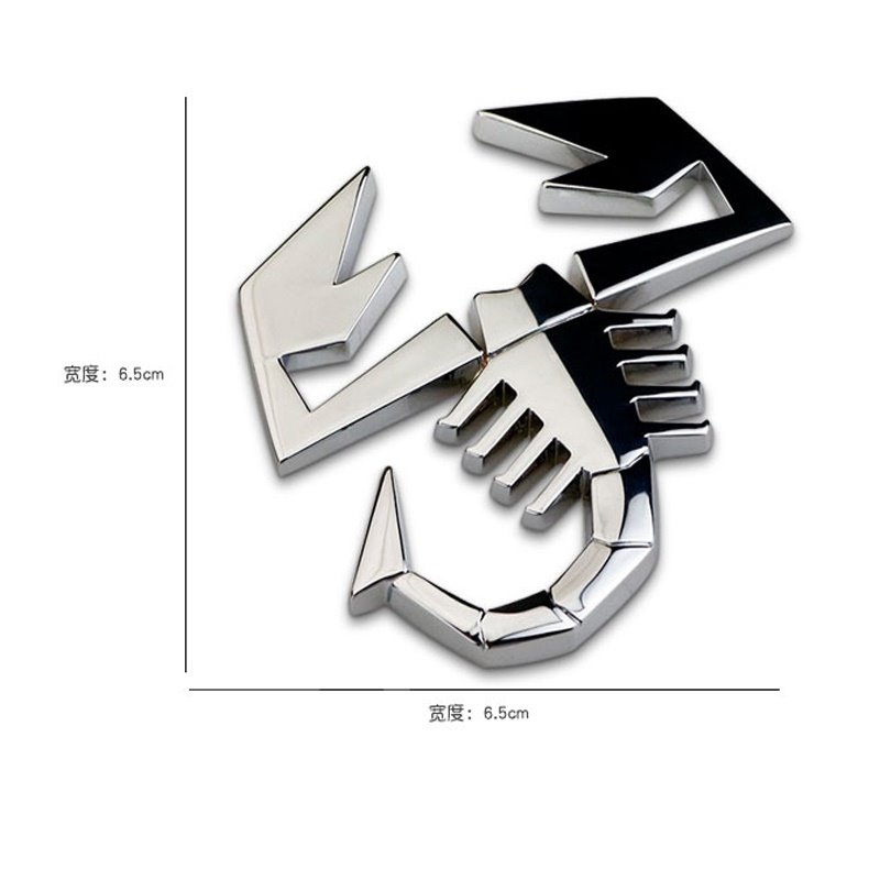 3D Craft Style Scorpion Shape Cool Car Sticker