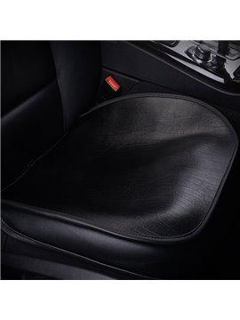 High-Grade Cattlehide Leather Material Classic Black Durable 1-Piece Single Car Seat Mat