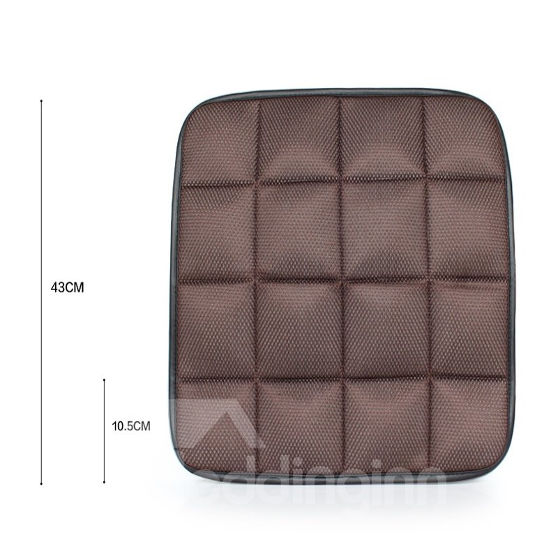 Classic Coffee Free Bundle Grid Design Durable PET Material 1-Piece Single Front Seat Mat