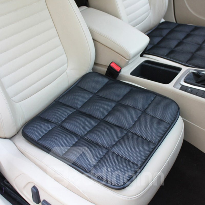 Classic Black Free Bundle Grid Design Durable PET Material 1-Piece Single Front Seat Mat
