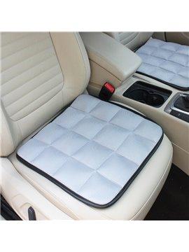 Free Bundle Grid Design Durable PET Material 1-Piece Single Gray Front Seat Mat