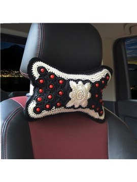 Traditional Handmade Craftsmanship Craft 1-Pair Synthetic Fiber Material Car Headrest Pillow