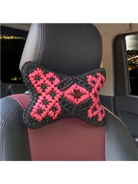 New Pure Hand Weaving Craft Synthetic Fiber Material Good Breathable Car Headrest Pillow