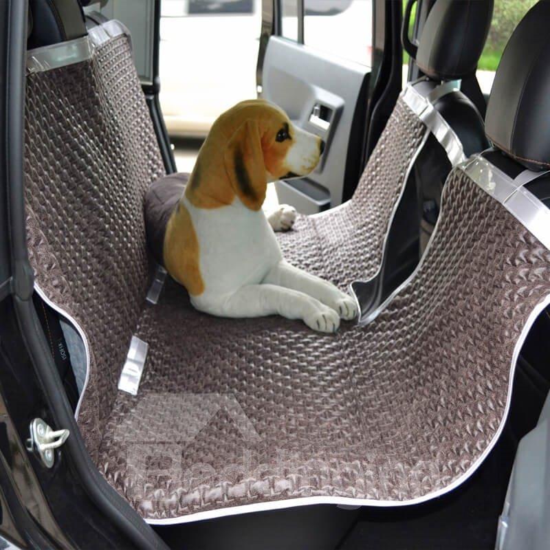 High-Grade Textured Durable PU Non-Slip Net Material Mixing Universal Car Pet Seat Mat