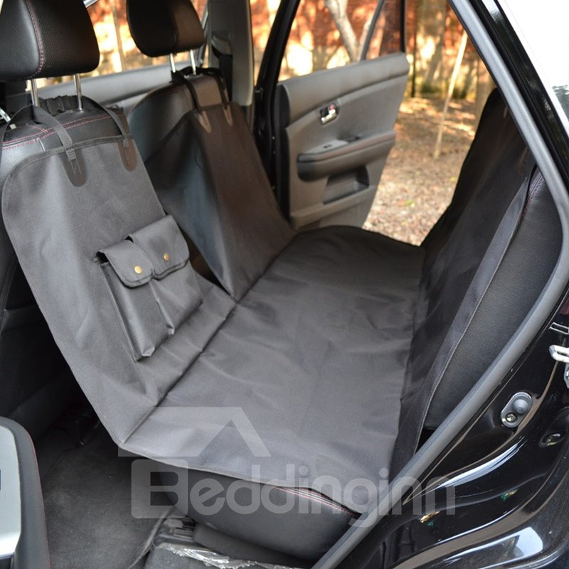 New Large Size Easy Install With Two Special Pockets Durable Oxford Universal Car Pet Seat Mat