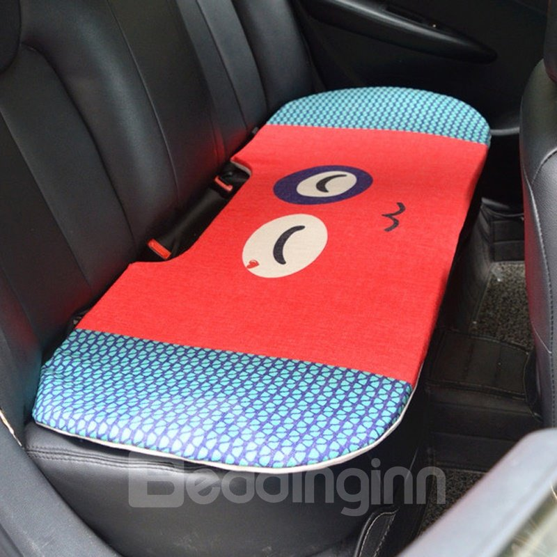 Attractive 1-Piece Cute Smiling Face Rabbit Cartoon Design Single Universal Car Rear Seat Mat