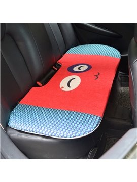 Attractive 1-Piece Cute Smiling Face Rabbit Cartoon Design Single Universal Car Rear Seat Mat