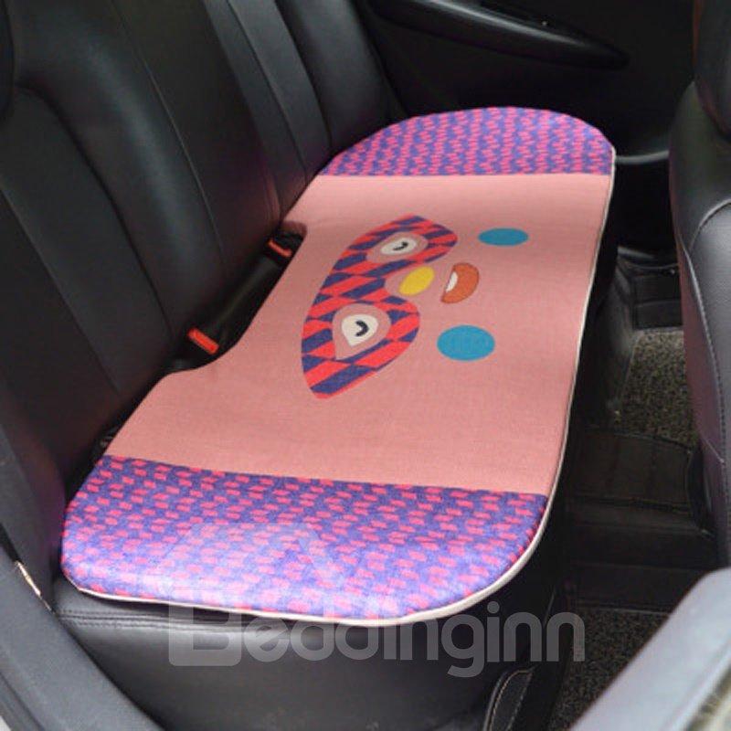 Pretty Cool 1-Piece Cute Glasses Rabbit Cartoon Design Single Universal Car Rear Seat Mat