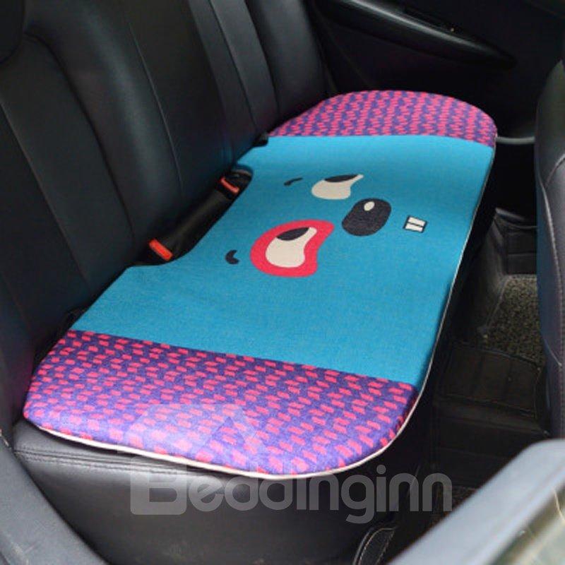Fashion 1-Piece Cute Smiling Rabbit Cartoon Design Single Car Rear Seat Mat
