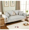 Modern Fashion Quilting Cushion Lace Design Slip Resistant Four Seasons Sofa Covers