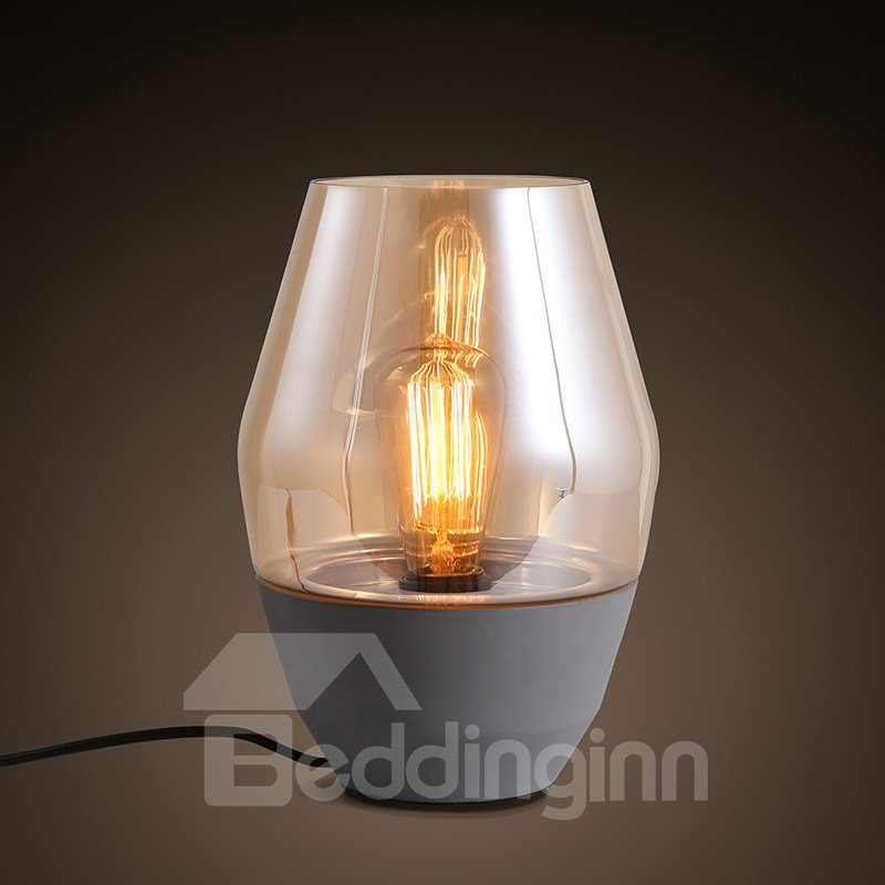 Special Design Ceramic Simple Style with Glasses Shade Decorative Table Lamp