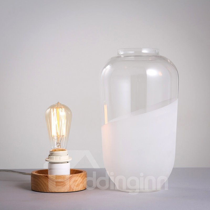 Decorative Special Design Glasses Design Durable Table Lamp
