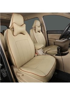 Full Surround Design High-Grade 5,7-Seats Custom-Fit Durable PU Leather Material Car Seat Cover