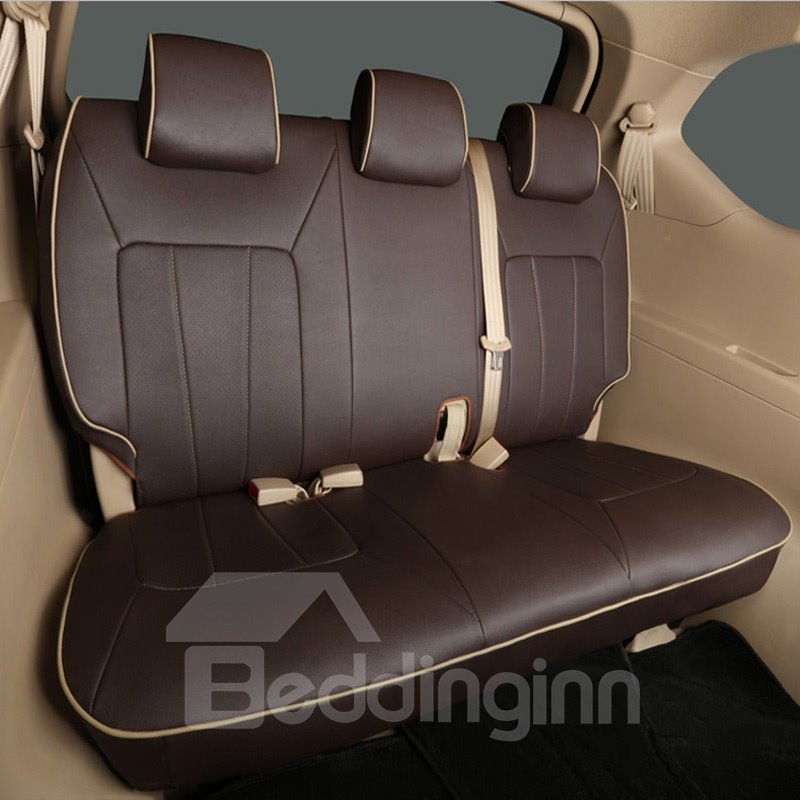 Full Surround Design High-Grade 7-Seats Custom-Fit Durable PU Leather Material Car Seat Cover